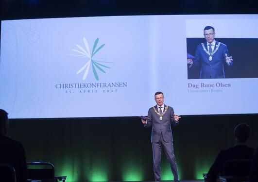 Rektor, Dag Rune Olsen, Christiekonferansen 2017