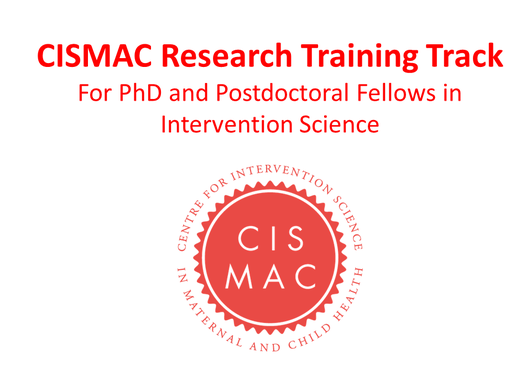 CISMAC Research Training Track logo