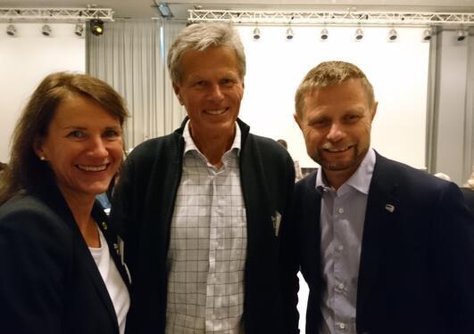 Rune Samdal, Bent Høie og Bettina Husebø