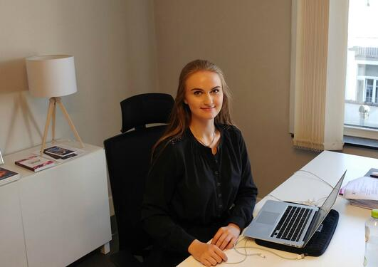 Praksisstudent Olivia Askheim