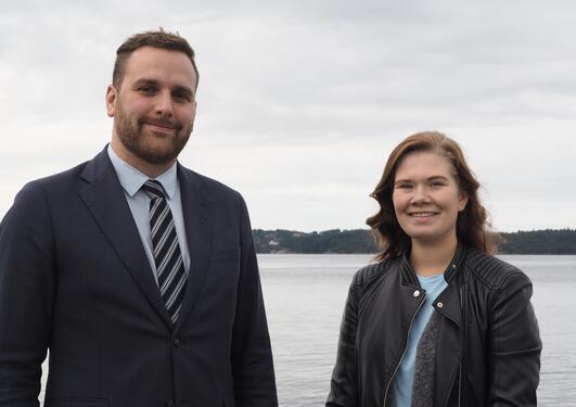 Sanna Wiik og John Tveit i Austevoll kommune