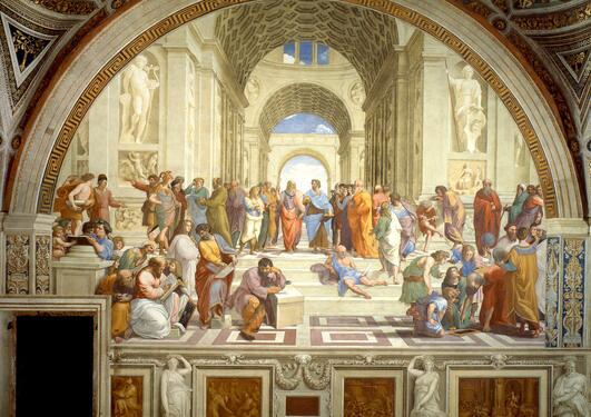Rafaels maleri Skolen i Athen