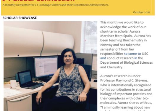 Aurora in USC Newsletter