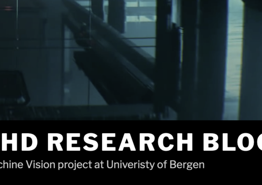 screenshot showing the words PHD RESEARCH BLOG: Machine Vision Project at University of Bergen