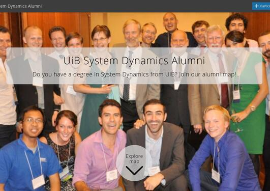 UiB System Dynamic Alumni map