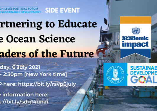 Flyer for side event at the 2021 High-level Political Forum at the United Nations – 6 July 2021.