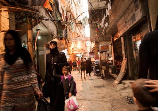 Street life, Shatila, Beirut