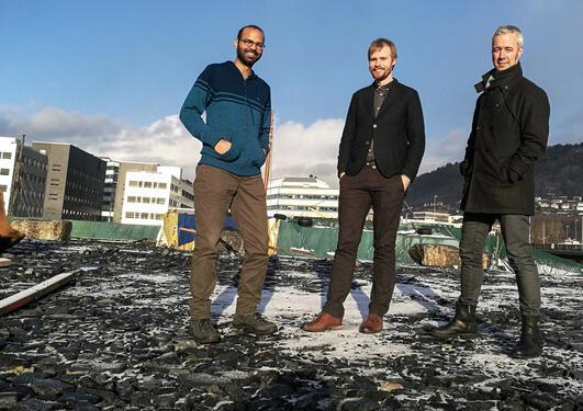 Siddharth Sareen, Jakob Grandin and Tarje Wanvik