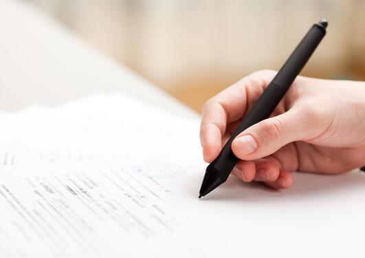 signatur på skjema