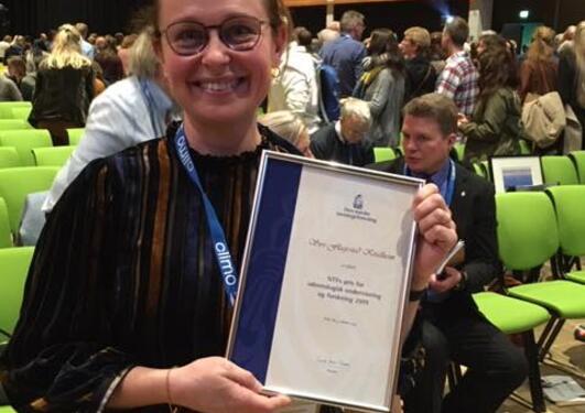 Siri Flagestad Kvalheim whith her award