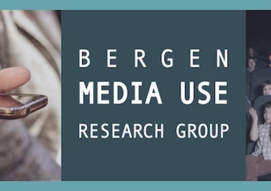 Collage av mediebruk: Smarttelefon, kinopublikum, tv-titting og dataspilling