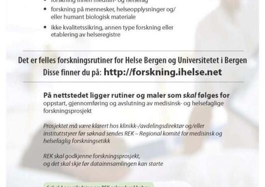 Plakat Helseforskningsloven