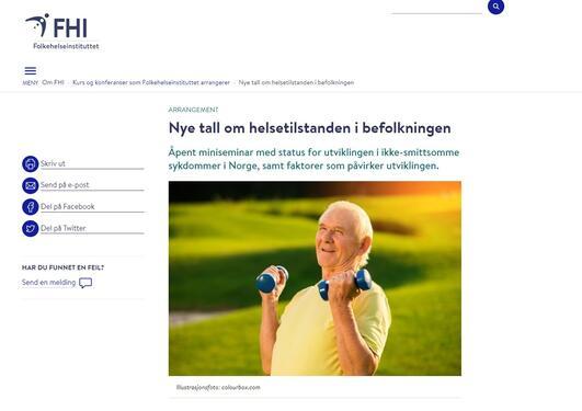 skjermbilde fhi nettside om seminar
