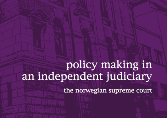 Bokframside - Policy Making in an Independent Judiciary The Norwegian Supreme Court