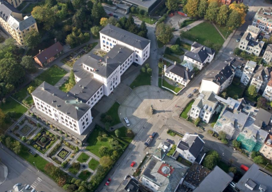 Aerial photo of Museplass 1, Bergen