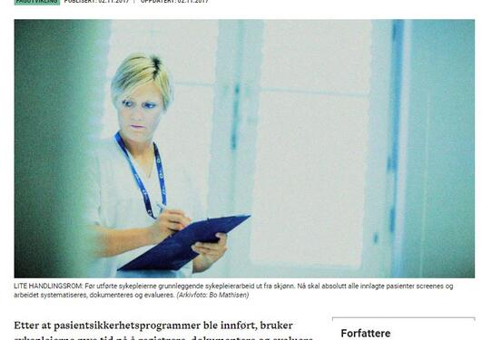 Screenshot av artikkel