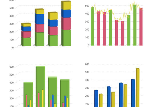 An illustration of different graphs and statistics.
