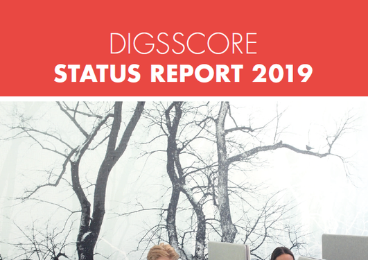 Snapshot of the front page of the DISSCORE status report