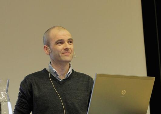 Stian Knappskog at the annual Norwegian Oncology Forum meeting