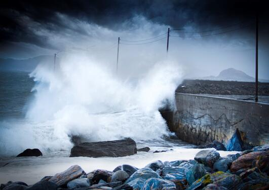 Storm at Alnes