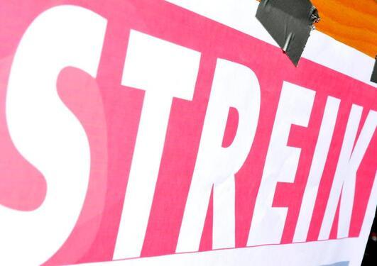 Streikeplakat