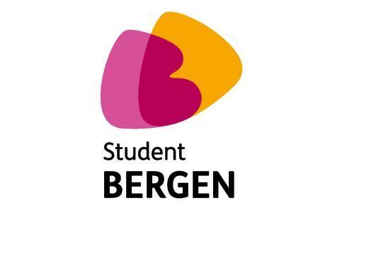 Oransje og rosa logo tekstet med Student Bergen