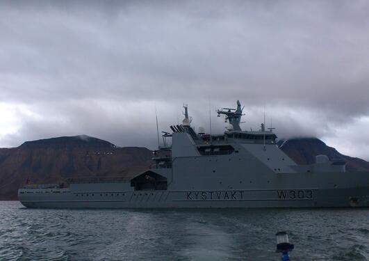 Picture of the coast guard vessel Svalbard