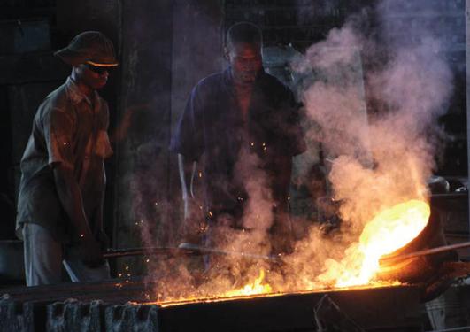 Tanzanian metal workers