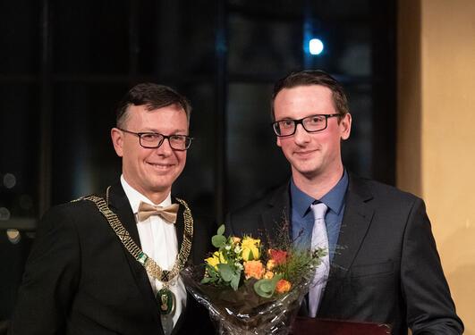 Adrian Drazic og Dag Rune Olsen ved Meltzermiddag 2019