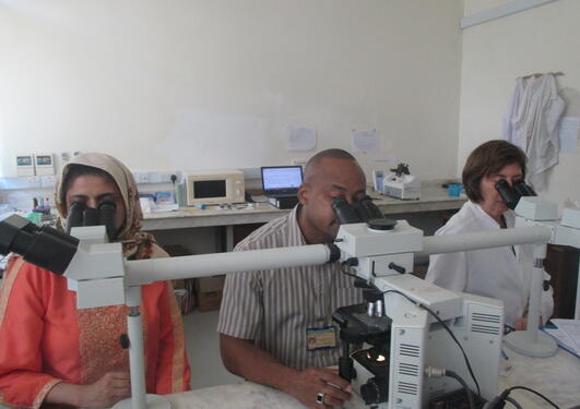 Tehmina Mustafa and colleagues Zanzibar lab