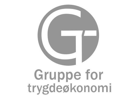 Logo for Gruppe for trygdeøkonomi