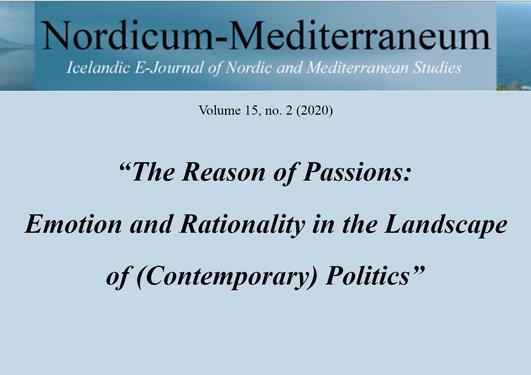 Logo til Nordicum-Mediterraneum samt tittel på konferansen