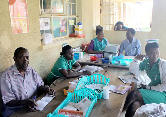 Medical staff in Uganda