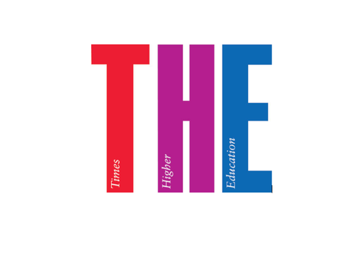 Logo of Times Higher Education, which published an annual ranking of the world's leading universities.