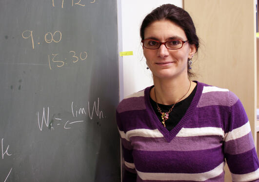 """I never felt an obstacle being a woman in my field, says Sofia Tirbassi, researcher at he Algebraic Geometry group at the University of Bergen."