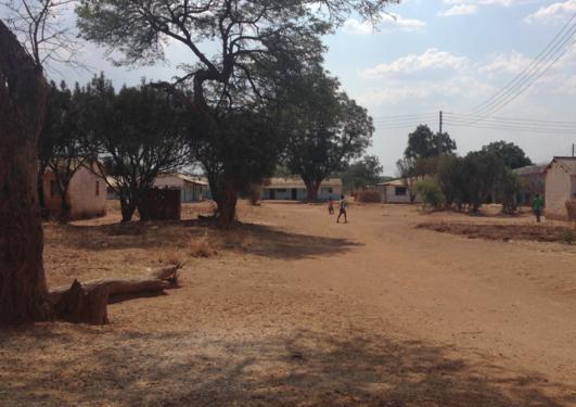 town centre in rural Zambia