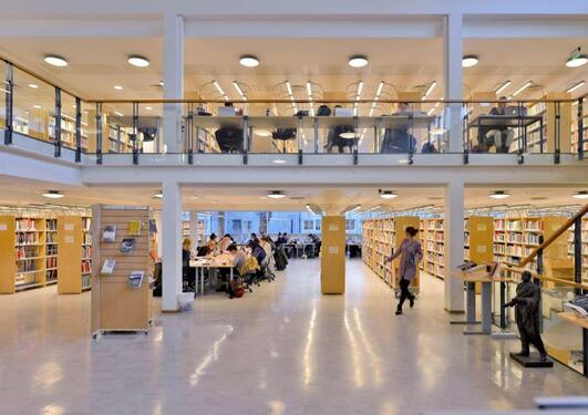 Image of the interior of the Arts and Humanties Library