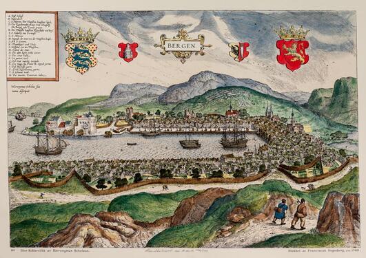 Historical Map of Bergen