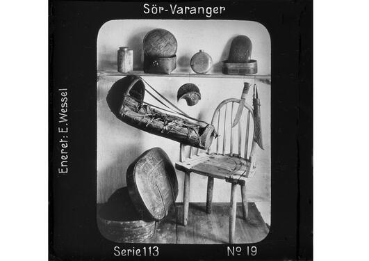 Samiske gjenstander fotografert av Ellisif Wessel