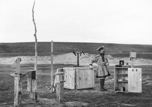 Sophus Tromholt, Self-portrait at the Aurora Borealis Station in Kautokeino, 1883
