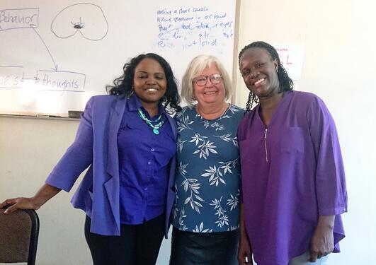Undervisning av tverrfaglig team i Uganda