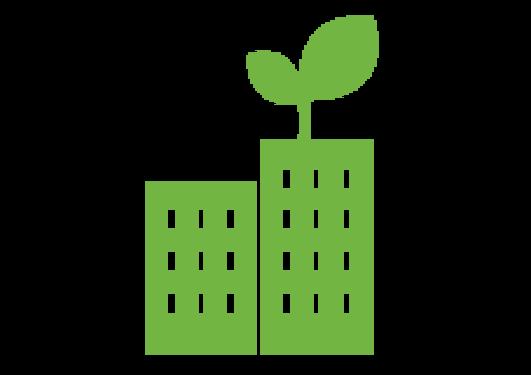 Grønt UiB Bygning logo