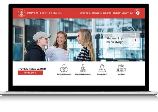 Illustrasjon av de nye websidene