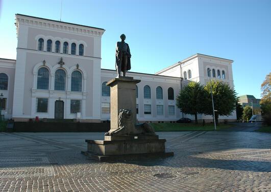 Facade of University Museum of Bergen