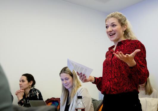 Postdoctoral Fellow Joanna Siekiera from the University of Bergen at a science diplomacy workshop in Bergen in February 2020.
