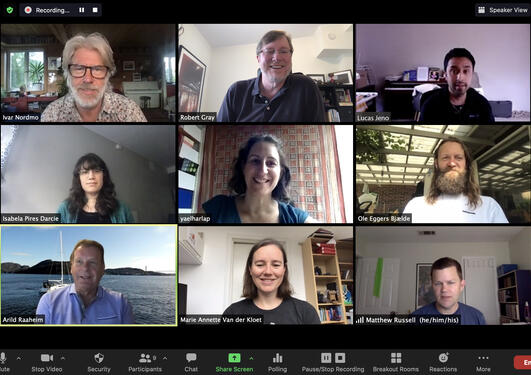Picture of UPED staff in Zoom meeting