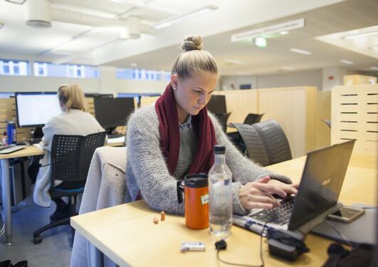 Utdanningstest – interessetest – yrkestest. Bilde av en person som utfører en slik test.