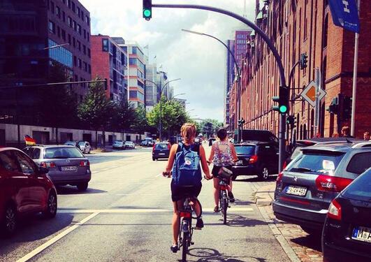 44 prosent av utvekslingsstudentene fra UiB reiste til land i Europa. Bildet er tatt av UiB-student Emma Gerritsen som dro på utveksling til Freie Universität Berlin.