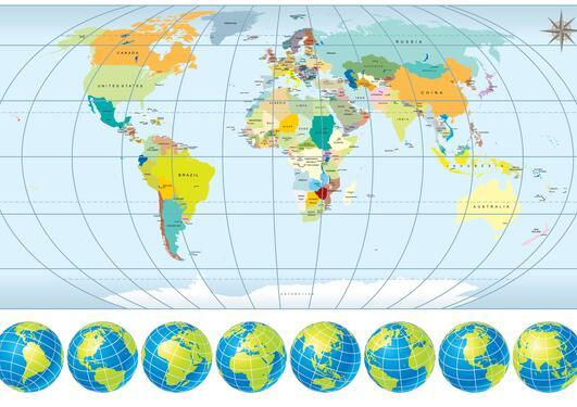 Bilde av et verdenskart