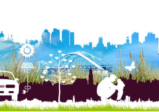 PARENT logo, outline of a cityscape with vehicles and people in the front